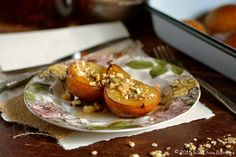Maple Roasted Bosc Pears with Pumpkin Granola & Walnuts ciaochowbambina.com