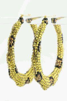 "Rich Girlz ""Leopardess Bamboo"" #Earrings | Fashion ..."