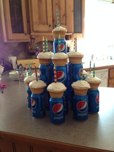 The Pepsi Cake. Uses 24 cans.