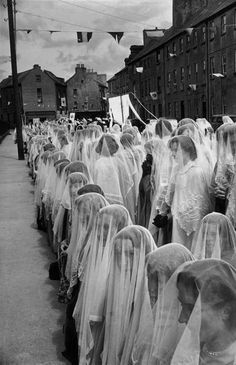 Henri Cartier-Bresson, Ireland 1952   Roman Catholic headscarves.   > > > Click image!