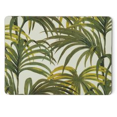 PALMERAL Set of Four Placemats - White / Green