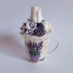 Lavender soap flower in a mug Lavender Soap, Mugs, Tableware, Flowers, Dinnerware, Tumbler, Dishes, Mug, Royal Icing Flowers
