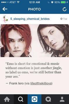 Frank said it, he finally said it