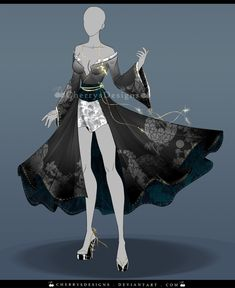 (closed) Outfit Adopt 644 - Kaminari by CherrysDesigns.deviantart.com on @DeviantArt
