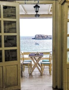 ....have a seat ! Dining with a beautiful Sea View at the Le Grand Bleu restaurant