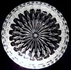 Hand engraved Glass Bowl by Catherine Miller of Catherine Miller Designs *Technique-Stone wheel *