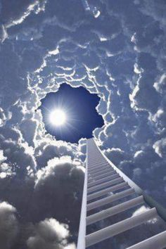 Stairway to Heaven. Prophetic art painting.