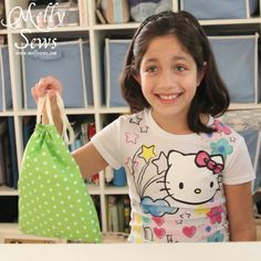 Beginner Sewing Projects - A Drawstring Bag Tutorial - Melly Sews