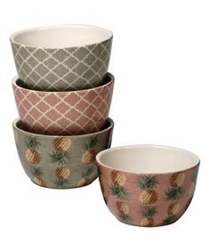 Another great find on #zulily! Floridian Ice Cream Bowl - Set of Four #zulilyfinds