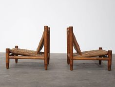 Charlotte Perriand | Pair of Rare French Easy Chairs | Circa 1950's