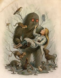 """Mrs. Sorensen and the Sasquatch"" by Kelly Barnhill, illustration by Chris Buzelli. An unconventional romance."