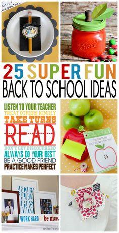 25 Fun Back To School Ideas. printables and teacher gift ideas.