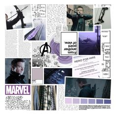 """from another point of view // clint barton // haweye"" by iitselizabeth ❤ liked on Polyvore featuring art and thefcb"