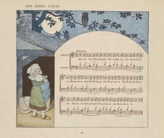 Vieilles chansons et rondes pour les petits enfants,  notées avec des accompagnements faciles par Ch. M. Widor.  Illustration de M. Boutet de Monvel.  Librairie Plon, Paris.1884.