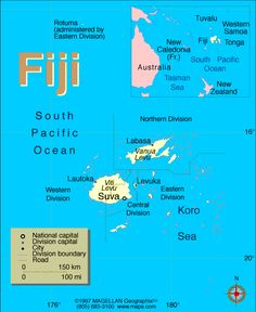Fiji Atlas: Maps and Online Resources | Infoplease.com