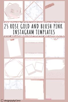 Are you fed up spending countless hours trying to create your own Instagram templates on Canva only to end up frustrated? Then these beautiful Instagram post templates are for you! These pretty instagram template designs will give your feed an amazing glow up. Instagram post ideas | Rose Gold Instagram Templates | Instagram Feed | Instagram quotes | Instagram | Pretty instagram | Instagram post ideas #instagramtemplates #instagramposts #instagramstories