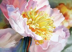 Marney Ward is renowned for her large glowing floral watercolors #watercolor jd