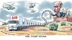 Ingram Pinn illustration - Russia sent a convoy of 256 aid trucks towards Ukraine, increasing border tensions