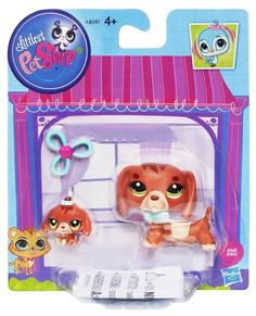 Dog Littlest Pet Shop Mommy and baby Dachshund Bobble style 3601 & 3602 New LPS #Hasbro