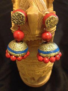 Terracota Earrings - Look stunning in this unique earring design. #HandMade in #USA from #ShopBollyWear #Jewellery #Jewelry #Jewel #Style #FashionJewel