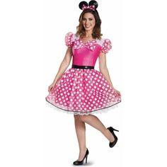 Disney Glam Pink Minnie Mouse Costume Adult Medium 8-10 4744b73f1abe