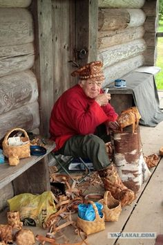 Russia Just like the basket weaver on Pine Island.