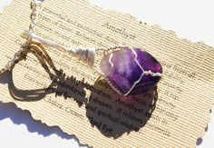 Wire Wrapped Amethyst Powerful Protection by TheStoneFairyShop