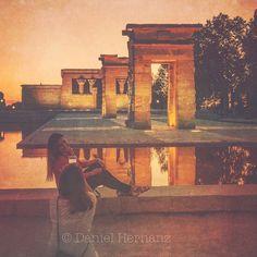 Madrid. Egyptian temple. Debod temple.