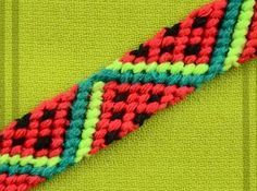 How to make Watermelon Friendship Bracelet. It rem… How to make Watermelon Friendship Bracelet It reminds us of something delicious… The post How to make Watermelon Friendship Bracelet It rem… appeared first on Woman Casual - DIY and crafts Bracelet Friendship, Friendship Bracelets Designs, Bracelet Designs, Diy Friendship Bracelets Tutorial, Armband Tutorial, Bracelet Tutorial, Diy Tutorial, Bracelet Crafts, Macrame Bracelets
