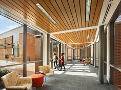 Academic Learning Commons | Interior detail Architecture by KSS Architects