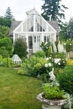 Greenhouse Envy - a collection of greenhouses and potting sheds. - Greenhouse Envy – a collection of greenhouses and potting sheds. Greenhouse Shed, Greenhouse Gardening, Small Greenhouse, Gardening Hacks, Vegetable Gardening, Organic Gardening, Unique Garden, Natural Garden, Victorian Greenhouses