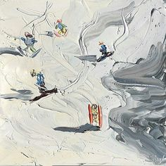 Sally West, Winter Art, Winter Snow, Painting Snow, Snow Art, Hot Beach, West Art, Step By Step Painting, Australian Art