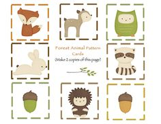 Preschool Printables: Forest Animals Printable
