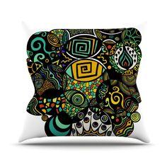 "Pom Graphic Design ""Multicolor Life"" Outdoor Throw Pillow"