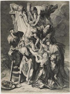 Lucas Emil Vorsterman I, Flemish, 1595 - 1675. After Peter Paul Rubens, Flemish (active Italy, Antwerp, and England), 1577 - 1640. Descent from the Cross, 1620. Engraving. Sheet: 22 3/4 x 17 1/16 inches (57.8 x 43.3 cm). 1985-52-15165. Philadelphia Museum of Art © 2015 Philadelphia Museum of Art