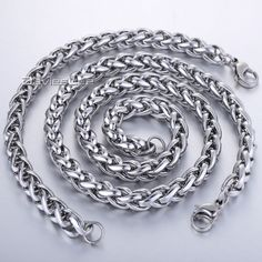 Find More Jewelry Sets Information about CUSTOMIZE SIZE JEWELRY SET 3/3.5/5/6/8MM Stainless Steel Wheat  Necklace Bracelet Chain  Mens Chain Necklace KS101,High Quality necklace retro,China necklace tassel Suppliers, Cheap necklace earphone from Davieslee Store on Aliexpress.com