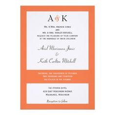 Ampersand Elegance Coral Wedding Invitation