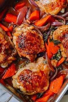 Thai Roasted Chicken Thighs, by thewoksoflife.com