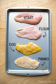 Skinny Chicken Milanese - Baked instead of fried AND gluten free Cheap Chicken Recipes, Shredded Chicken Recipes, Fried Chicken Recipes, Recipe Chicken, Crispy Chicken, Healthy Cooking, Healthy Eating, Cooking Recipes, Chicken Milanese