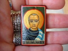 Catholic Jewelry from Hand Painted Orthodox Icons Orthodox Catholic, Catholic News, Catholic Saints, Patron Saints, Roman Catholic, Russian Orthodox, St Maximilian, Overcoming Addiction, Catholic Jewelry