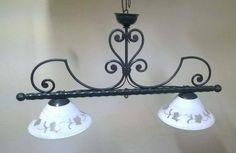 LAMPADARIO BILANCIA Ferro Battuto . luce domotica compatibile Alexa Google . 219 Lamp, Decor, Lighting, Home Decor