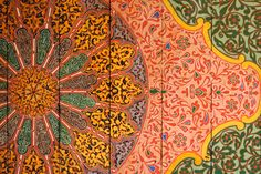 The ceiling of the Bahia palace, Marrakesh