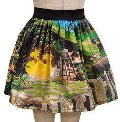 The Shire Full Skirt by GoFollowRabbits on Etsy, $45.99  This girl makes the cutest GEEK skirt ever!