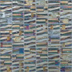 Shop Elida Ceramica Glass Mosaic Textured Gunstock Glass Mosaic Square Wall Tile (Common: 12-in x 12-in; Actual: 12.5-in x 12.5-in) at Lowes.com