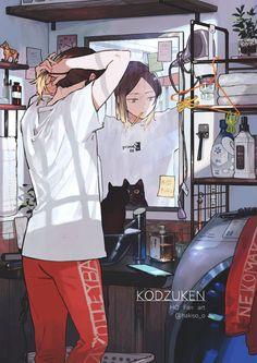 Haikyuu Kageyama, Kenma Kozume, Haikyuu Funny, Kuroken, Haikyuu Manga, Haikyuu Fanart, 5 Anime, Anime Demon, Anime Art