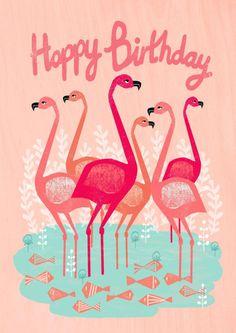 £2.99 | Andrea Lauren #flamingoes #illustration #stationery