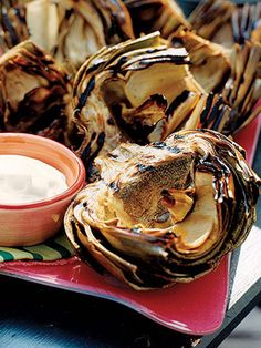 Grilled Artichoke New Years Eve Food Ideas - New Years Eve Dinner Recipes - Country Living