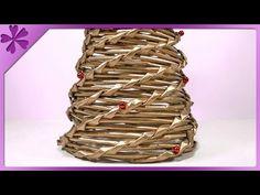 DIY Choinka z papierowej wikliny / Paper wicker Christmas tree (+ENG Annotations) - Na szybko #44 - YouTube