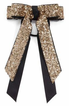 Main Image - Cara Sequin Bow Ponytail Holder Moños Para Blusas 2c956b88c4e