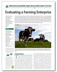 "Are you interested in becoming a farmer? Check out ATTRA's ""Evaluating a Farming Enterprise"" publication for guidance. #ATTRA"